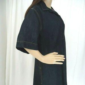 Lauren Ralph Lauren Dresses - Lauren by Ralph Lauren Denim V Neck Dress Pockets